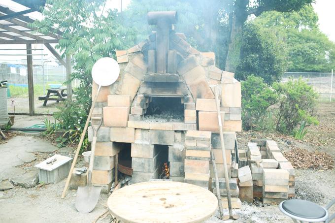 翔工房のピザ釜
