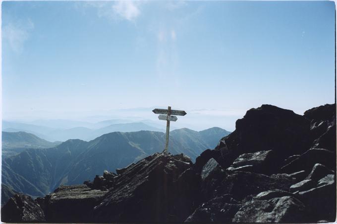 立山縦走時の写真〈手焼きカラープリント〉